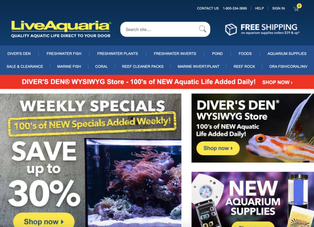 liveaquaria homepage